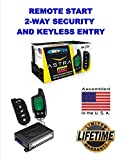 Car Alarm Security System, Keyless Entry 2-Way LCD Remote Start Scytek A4.2W