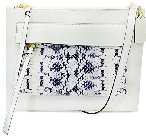 Parchment Leather Two in Madison Embossed Tone Coach Felicia Python Crossbody UzIgq
