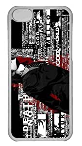 Customized iphone 5C PC Transparent Case - Typography Artwork Personalized Cover