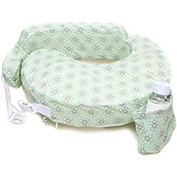 My Brest Friend Original Nursing Posture Pillow, Green Sage Dotted Daisies