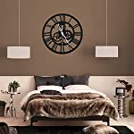 SING F LTD Wall ClockVintage Retro Roman Numeral Steampunk Wall Clock Compatible with Home DecorGold 8