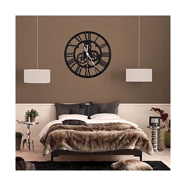SING F LTD Wall ClockVintage Retro Roman Numeral Steampunk Wall Clock Compatible with Home DecorGold 5