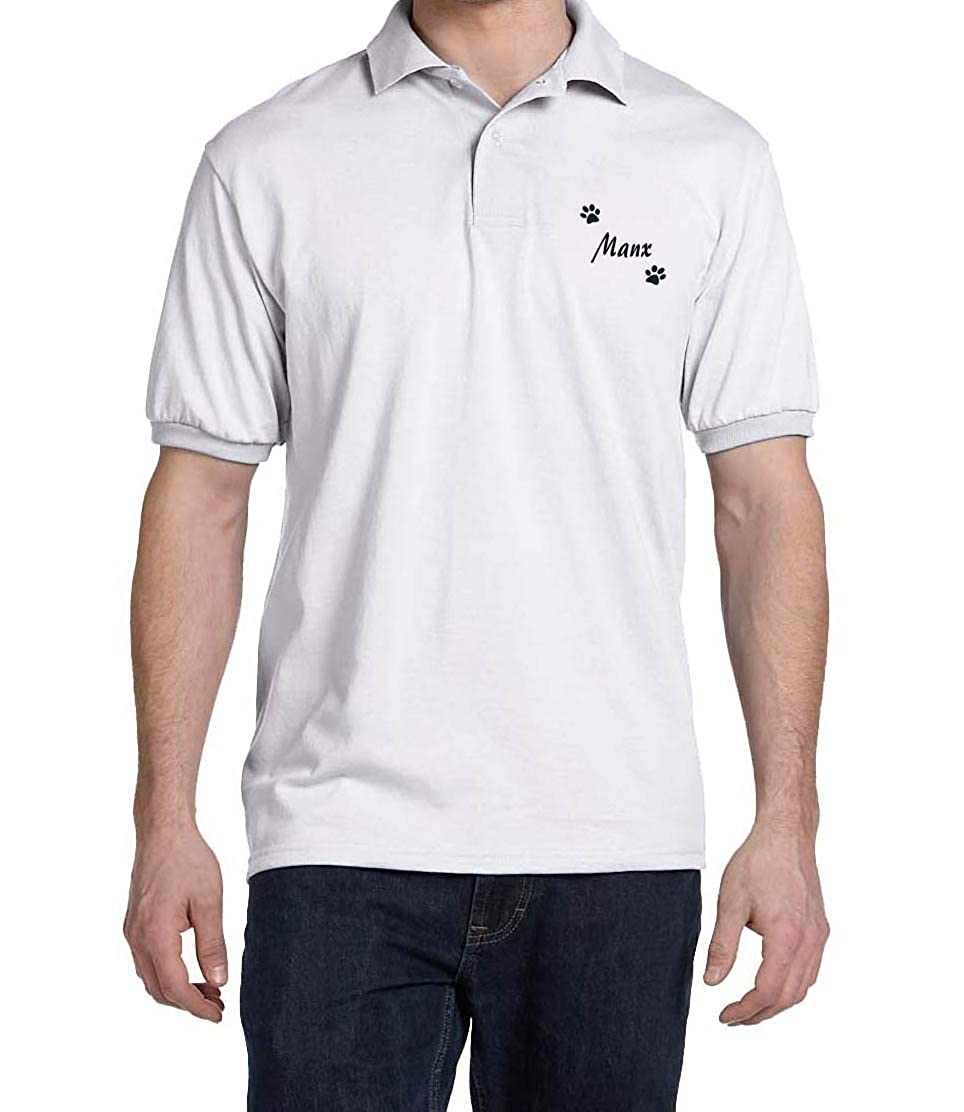 Manx Dog Paw Puppy Name Breed Polo Shirt Clothes Men Women