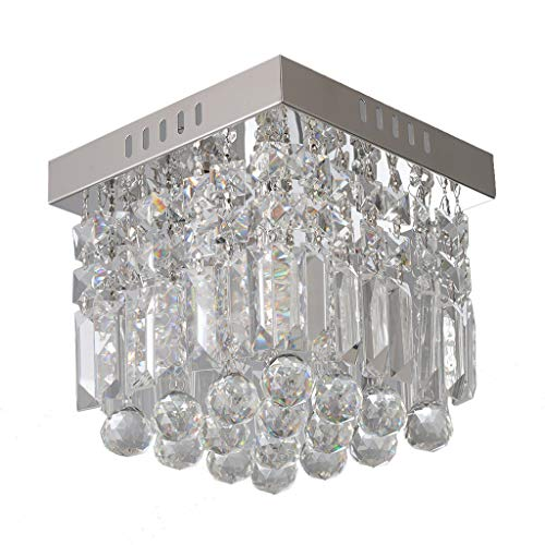 Sonmer Modern Crystal Chandelier Ceiling Lamp, E12 Base,110V,LED Modern Light Home Decor