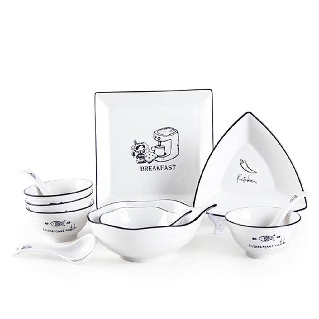 食器皿セットセラミックボウルプレート   B07JBWTYH6