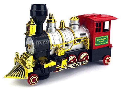 Percy Battery Powered Engine (Rocky Mountain Battery Operated Children Kid's Bump and Go Toy Train w/ Real Train Smoke & Horn, Working Headlight)