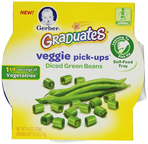 Gerber Graduates Veggie Pick-Ups - Diced Green Bean,  4.5 Ounce (Pack of 8) (Gerber Baby Food Green Beans compare prices)