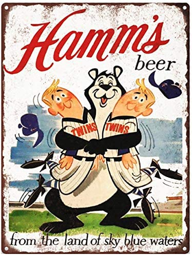 """HAMM/'S BEER IN CANS  6/"""" x 18/"""" ALUMINUM Sign"""