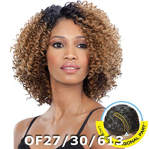 (Freetress Equal Synthetic Lace Front Deep Diagonal Part Wig - Flower Blossom-OF99J/530/BG)
