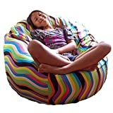 Ahh! Products Wavelength Jelly Bean Cotton Washable Large Bean Bag Chair