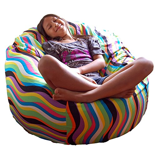 Ahh! Products Wavelength Jelly Bean Cotton Washable Large Bean Bag Chair (Wavelength Game)