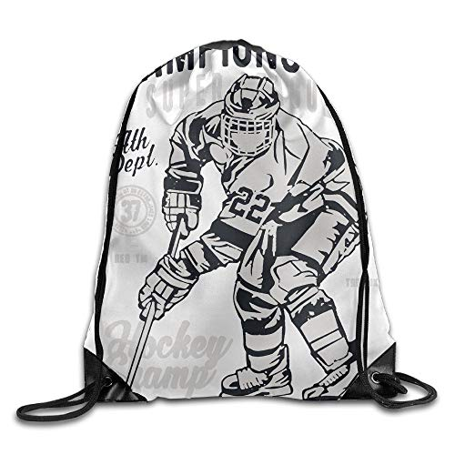 - Linkaprk Champions Cup Hockey Drawstring Pack Beam Mouth Gym Sack Shoulder Bags for Men & Women