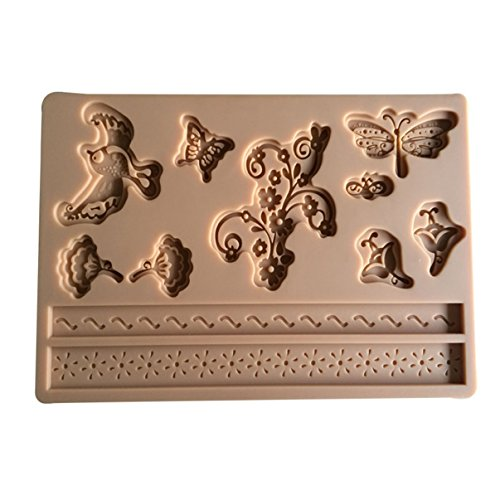 Good Popular Silicone Mold Bird Flower Butterfly Decorating Cake Tools Mini Silicon Molds Baking Maker Gifts Fondant Mould Supplies DIY Tips Chocolate Candy Ice Cupcake Vintage Kit Set