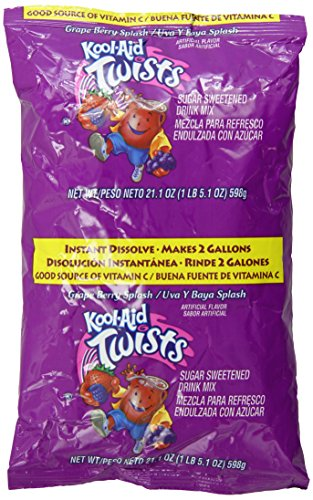 Kool-Aid Grape Berry Splash Mix, 2 gal. pack, Pack of 15