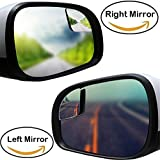 Blind Spot Mirrors For Car Truck, Square Flameless 2'' Small Blind Spot Mirrors Convex Mirrors,1 Pair (Right & Left)
