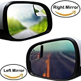 eSUN Blind Spot Mirror For Car Truck - Fan Shape Frameless 2'' Small Blindspot Mirror Convex Mirrors - 1 Pair (Right & Left - Big Rear Mirrors Are Not Included)