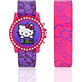 Hello Kitty by Sanrio Licensed Flashing Light 2-in-1 Interchangeable Band Girls Watch Set