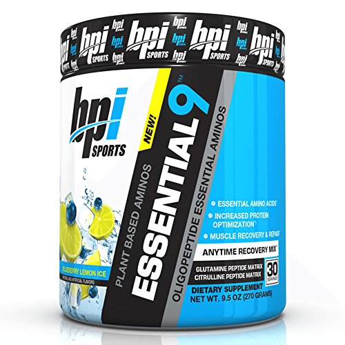 BPI Sports 9 Plant Based Oligopeptide Essential Aminos, Arctic Ice, 9.5 Ounce