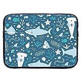 HFAYJ Hammerhead Sharks 13/15 Inch Laptop Sleeve Bag for MacBook Air 11 13 15 Pro 13.3 15.4 Portable Zipper Laptop Bag Tablet Bag, Water Resistant, Black