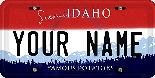 BleuReign(TM) Personalized Custom Name Idaho State Car Vehicle License Plate Auto Tag (ALL STATES AVAILABLE)