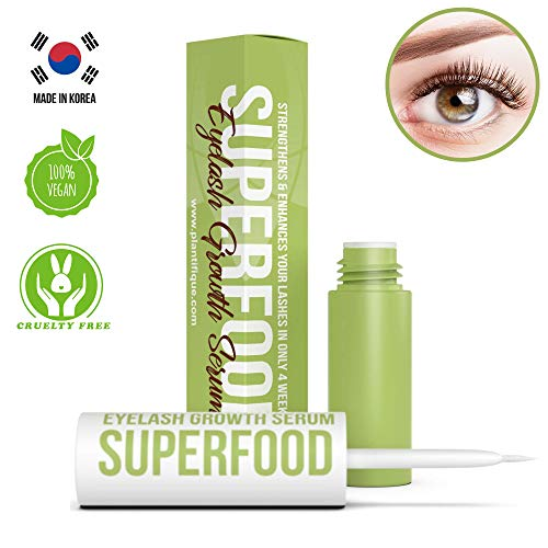 Superfood Eyelash Growth Serum for Lash - Thick Lashes and Eyebrows - Lash Booster & Eyebrow Enhancing Serum to Grow Thicker - Irritation free & concentrated formula