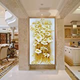 Diamond Painting Diy 5D Round Crystal Mosaic Lily Flower Embroidery 3D Cross Stitch Decorative Needlework Handemade Stamped Kit (90*50)