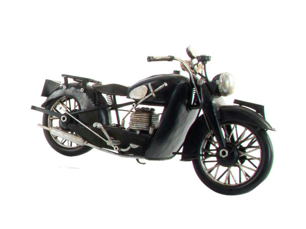 G&S Moto en mé tal ré tro, L 29 cm, Couleur Noir SG