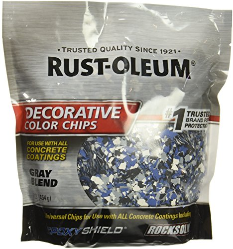 Rust-Oleum 301359 Decorative Color Chips, Gray Blend, 1lb (Oleum Rust Colors)
