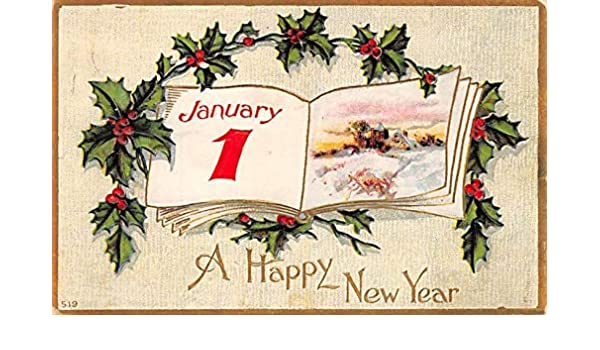 New Years Day Postcards Old Vintage Antique Post Cards John
