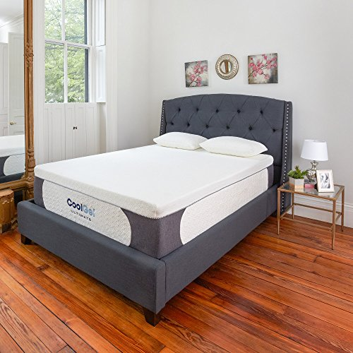 Classic Brands Cool Gel Ultimate Gel Memory Foam 14-Inch Mattress with BONUS 2 Pillows, Queen