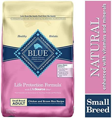 Blue Buffalo Life Protection Formula Small Breed Dog Food – Natural Dry Dog Food for Adult Dogs – Chicken and Brown Rice – 15 lb. Bag