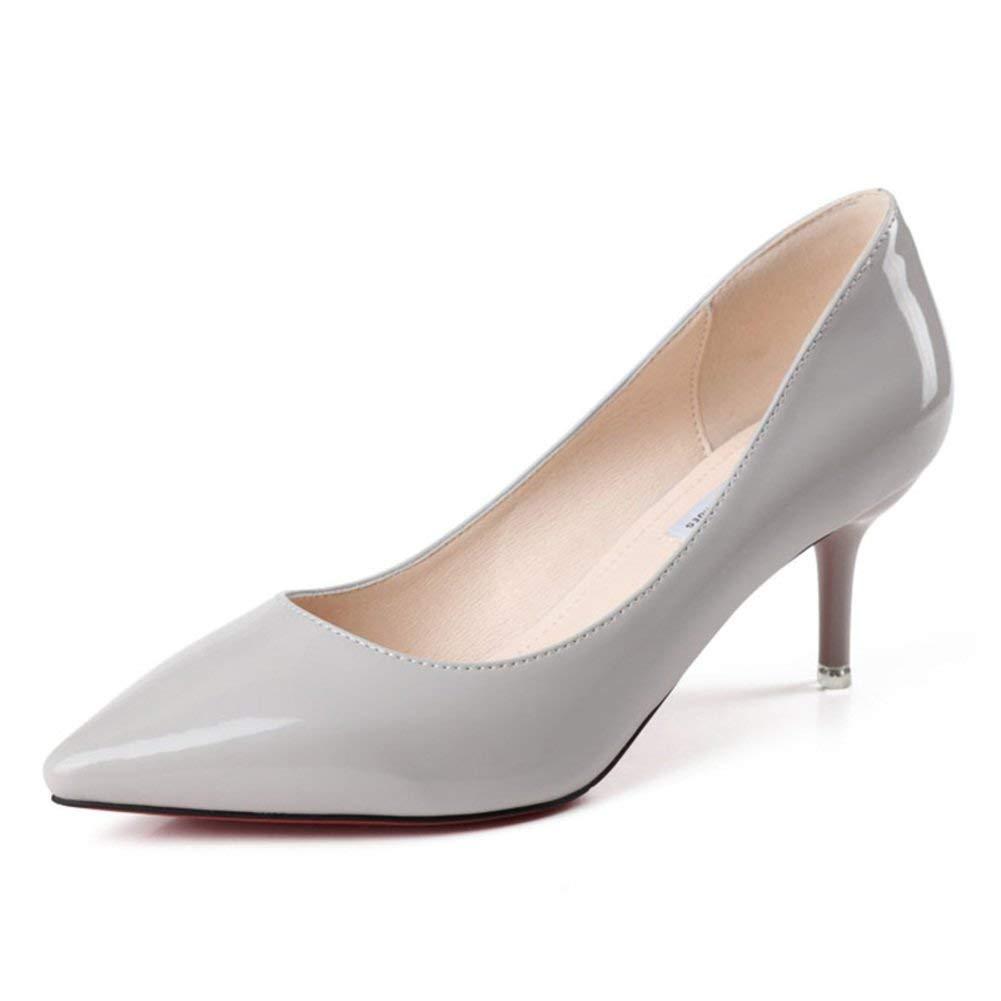 ZCW Scarpe casual e versatili, versatili, versatili, scarpe con tacco alto, donne con le scarpe a stiletto, scarpe con luce dolce, scarpe a punta,Lunghezza del piede = 21,8 cm (8,6 pollici),C a268c6
