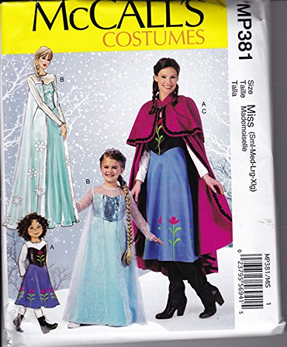 McCall's Costumes MP381 Winter Princesses featuring Anna