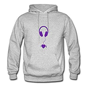 Grey Music Lover Purple Customized Design X-large 100% Cotton Women Sweatshirts