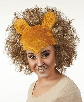 La peluca de la peluca de león de carnaval de la peluca de león de peluche: Amazon.es: Juguetes y juegos