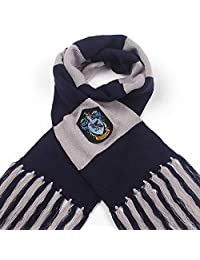 Fashion warmth surrounding contrast stripes tassels autumn and winter wool COS clothing from Harry Potter and Hawkworth RedWind (ravenclaw)