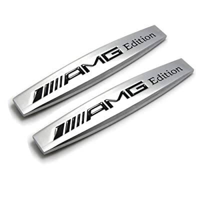 DEMILLO Car Emblem Chrome Stickers Decals Badge Labeling for Mercedes Benz AMG: Automotive