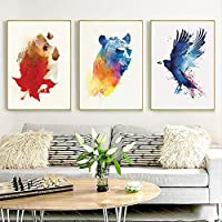 Nordic Simplicity Art Abstract Painting Poster Wall Art Modern Painting Canvas 3 Pieces Art Gift Home Print Decoration…