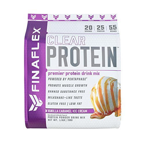 (Clear Protein, Premier Protein Drink Mix, Milkshake-Like Taste, For Men and Women of All Ages, Muscle Growth and Recovery, Gluten-Free, Low Fat (Vanilla Caramel Ice Cream, 20 Serving))