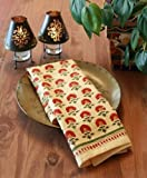 Tropical Garden ~ Red Floral Country Dinner Napkins