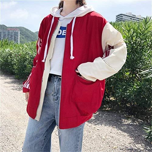 Lunga Cerniera Baseball Stampato Con Digitale Elegante Colori Rot Pattern Giaccone Misti Giacche Tasche Baggy Outwear Donna Manica Giacca Ericcay Autunno Sottile qaZzAA