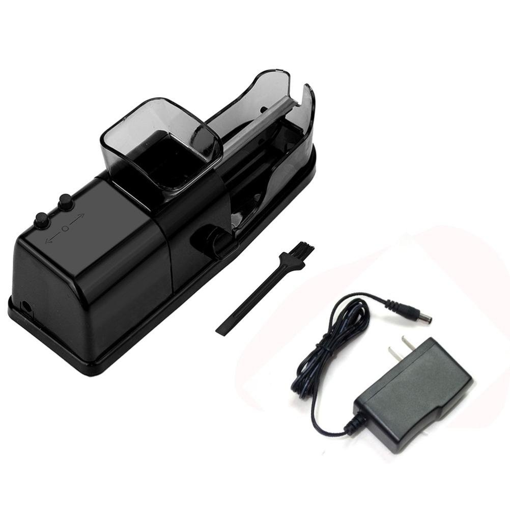 EnjoCho 1PC US Plug New Automatic Electric Tobacco Roller Automatic Cigarette Rolling Machine Injector (Black)