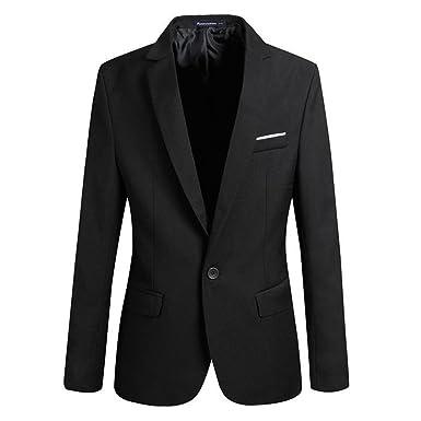 Benibos Mens Casual One Button Slim Fit Blazer Suit Jacket