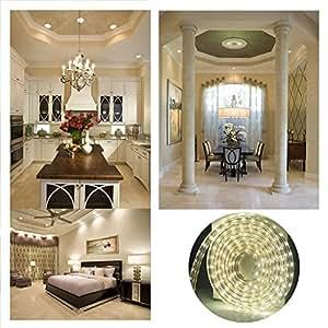 ALED LIGHT ® 5050 LED Strip Bar LED Strip, Waterproof, 220V, 60 Leds Per Meter. Ideal for Garden, Household, Kitchen, Under Cabinet, Car, Bar (5050 Cool White 10M)