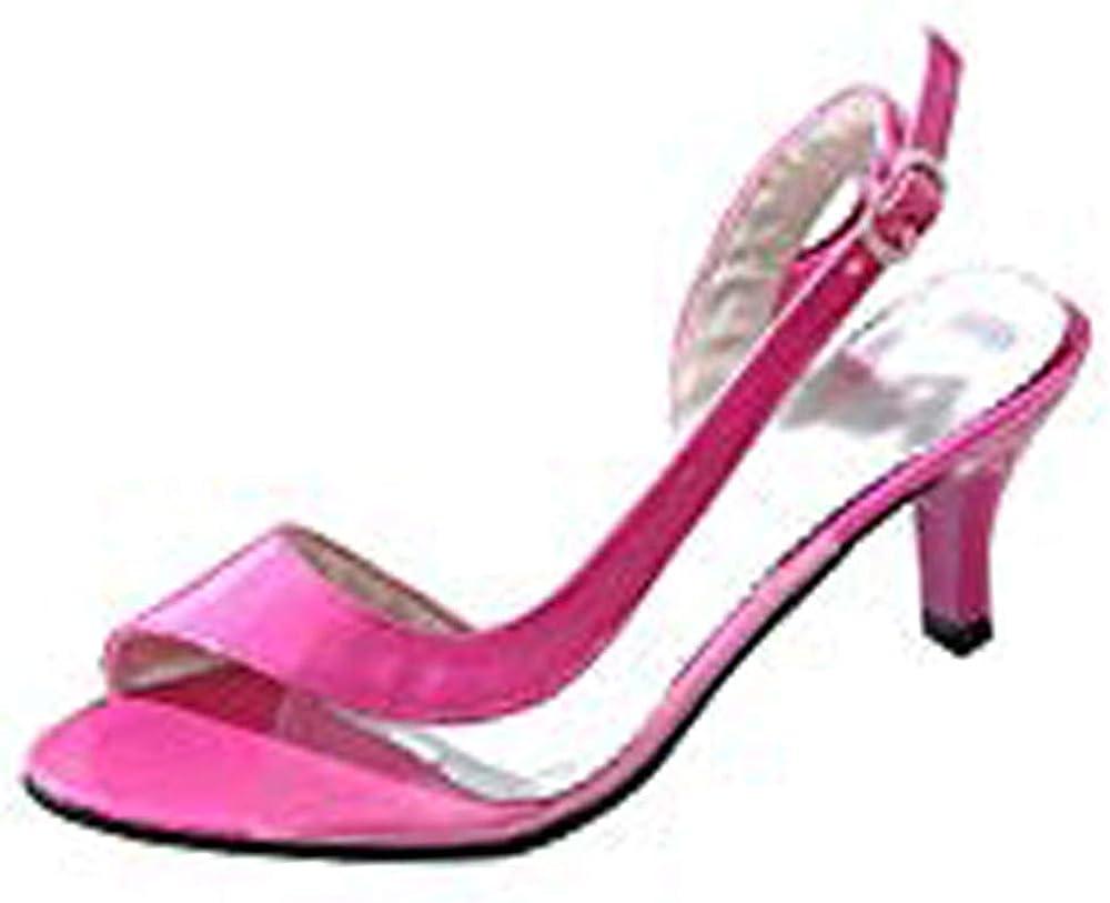 MisaKinsa Women Fashion Mid Heel Sandals Buckle