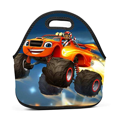Blaze-Monster-Machines Neoprene Insulated Lunch Tote Bento Bag Box -