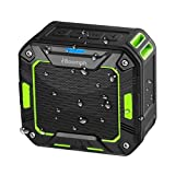 Portable Bluetooth Wireless Speaker for Shower or Outdoor By Boomph. Water Resistant & Shockproof : Rechargeable, Enhanced 10 Hr Battery, Pairs All Bluetooth Devices (Green)