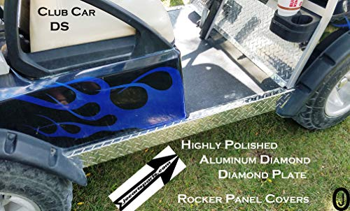 - Club Car Ds Polished Aluminum Diamond Plate Side Rocker Panels