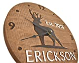 Personalized deer clock Hunting cabin decor 5th anniversary gift For Sale