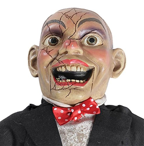 Scary Ventriloquist Dummy Costumes - Funny Comedian CREEPY CHARLIE DOLL Haunted